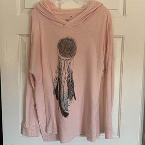 AEO Soft & Sexy Plush Dream Catcher Hoodie, Size L